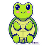 Load image for gallery viewLittle Turtle Sticker