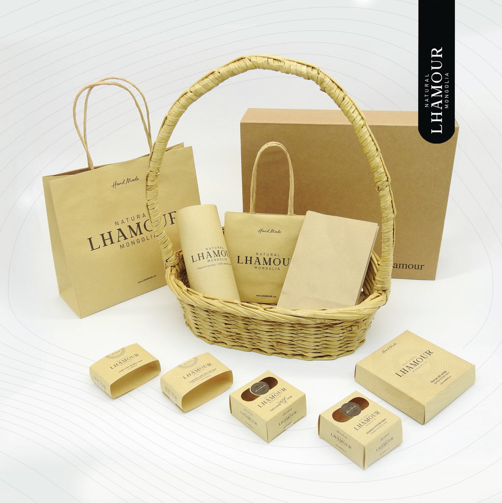 lhamour recycled paper bags
