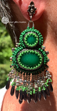 Double Green Earrings