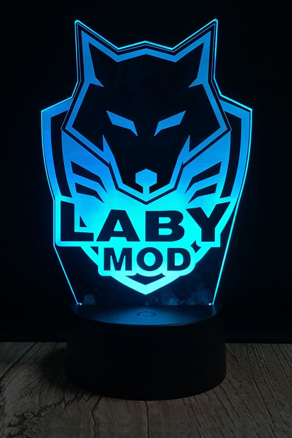 LabyMod Wappen LED Lampe