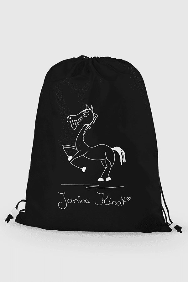 Janina Kindt signature Turnbeutel black