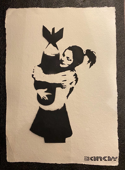 Banksy - Bombgirl - With Official Watermark