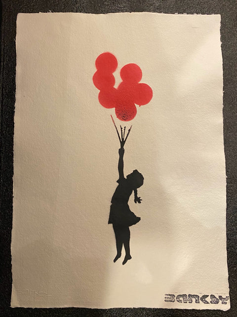 Banksy - Red Balloons - With Official Watermark