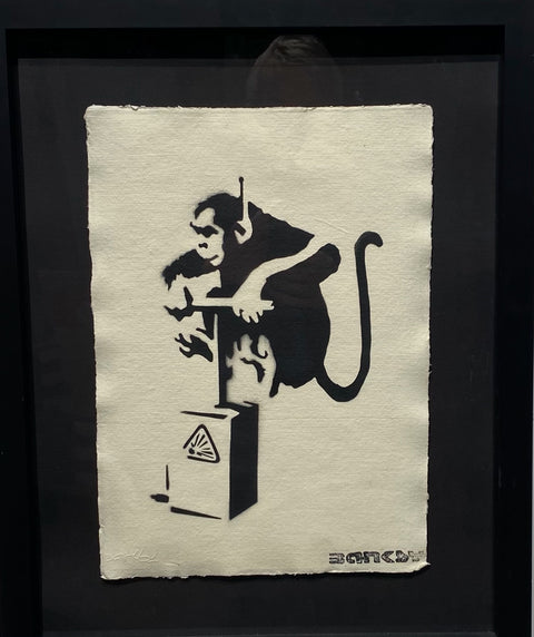 Banksy - Explosive Monkey - With Official Watermark