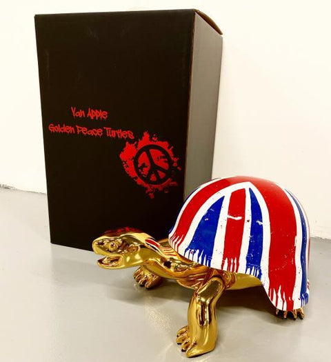 Van Apple - THE GOLDEN PEACE TURTLE WE LOVE UNION JACK - van Apple