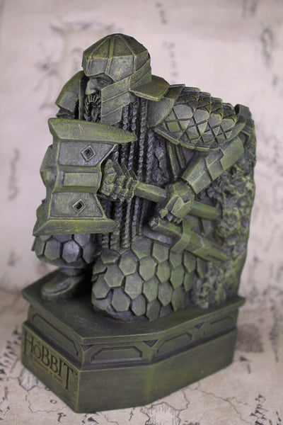LOTR THE DESOLATION OF SMAUG RESIN STATUE BOOKEND SCULPTURE DECORATION BOOK HOLDER LONELY MOUNTAIN DWARF