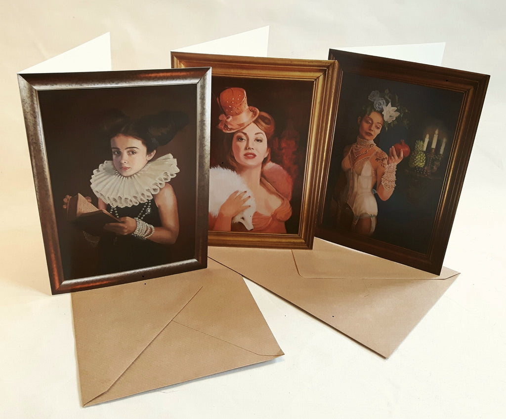 Burlesque Inspired Greetings Cards