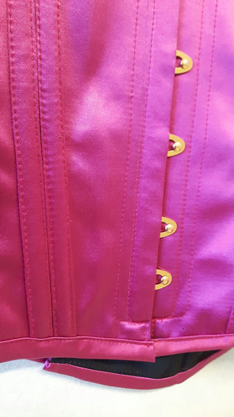 Waspie Fuchsia Corset with gold