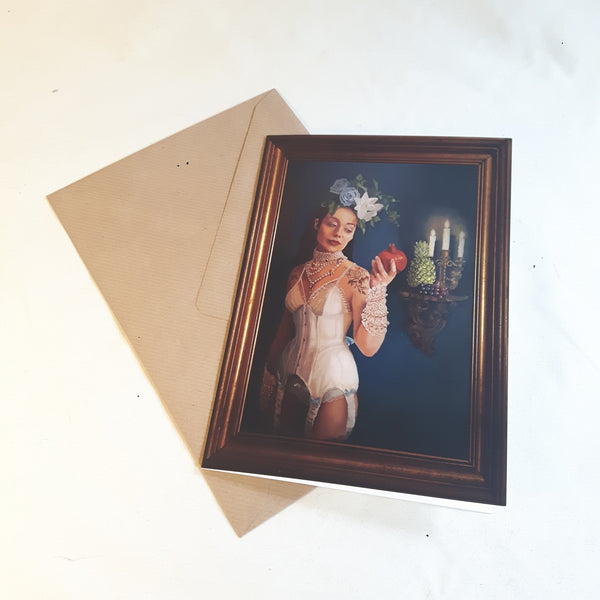 Greetings card of original oil painting of `Wedding Night` by Katie Ray