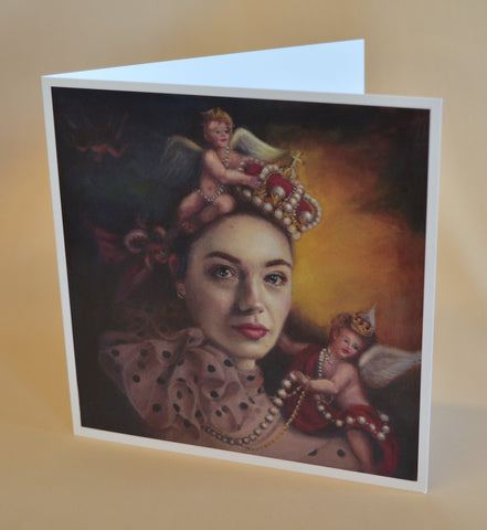 Crowns and Cherubs greeting cards by Katie Ray