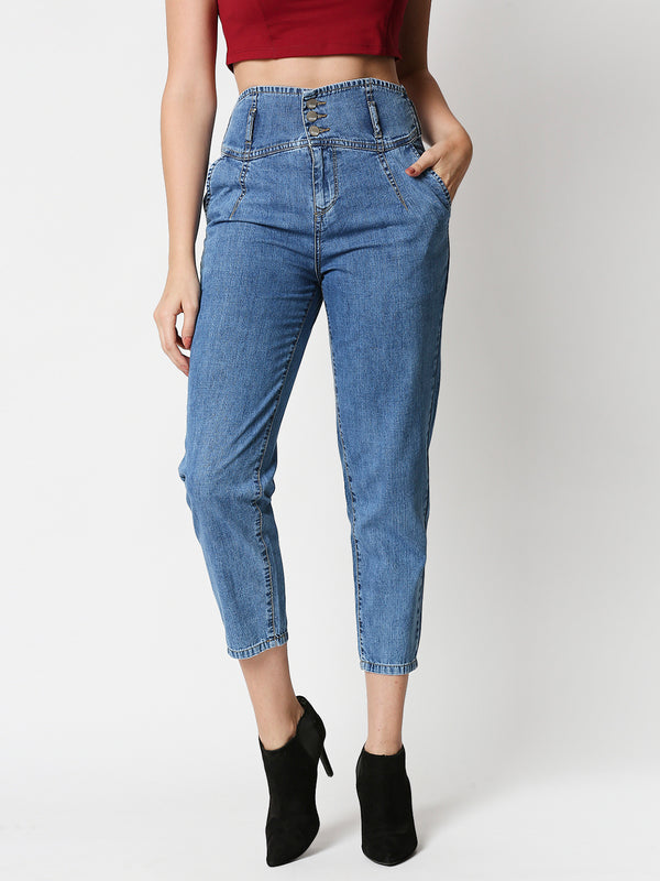 High-Rise Baggy Fit Jeans (6595514630319)