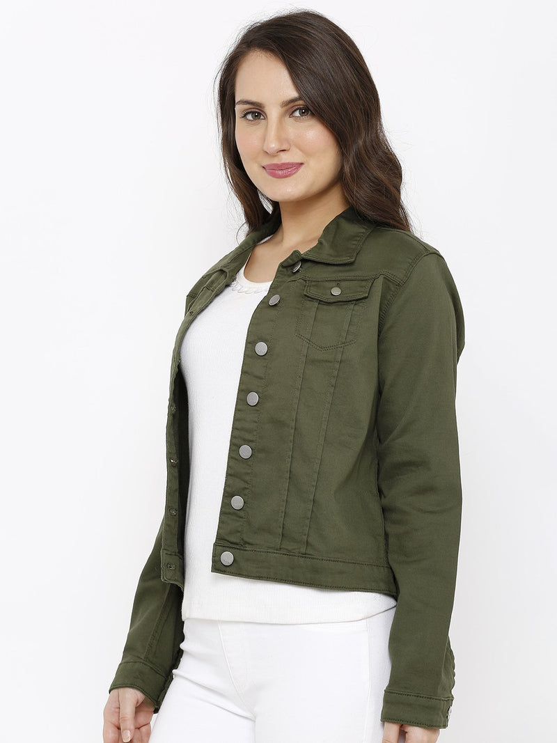 Women Solid Tailored Jacket (6251637211311)