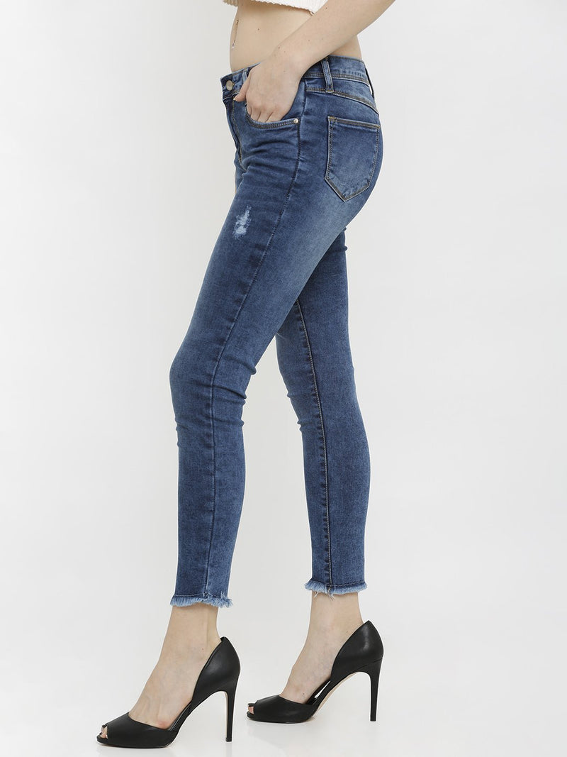 K4050 Mid-Rise Skinny Crop Length Jeans (6251609030831)