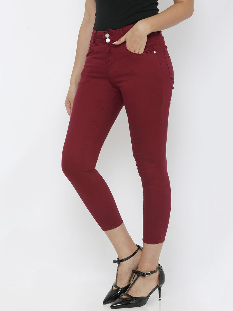 K4050 Mid-Rise Skinny Crop Length Jeans (6251603198127)