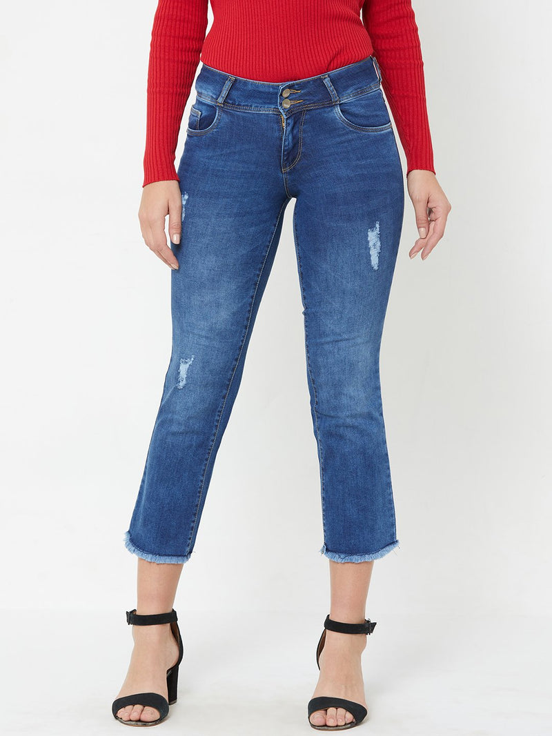 K4095 Midrise Cropped Flared Jeans (6289945657519)