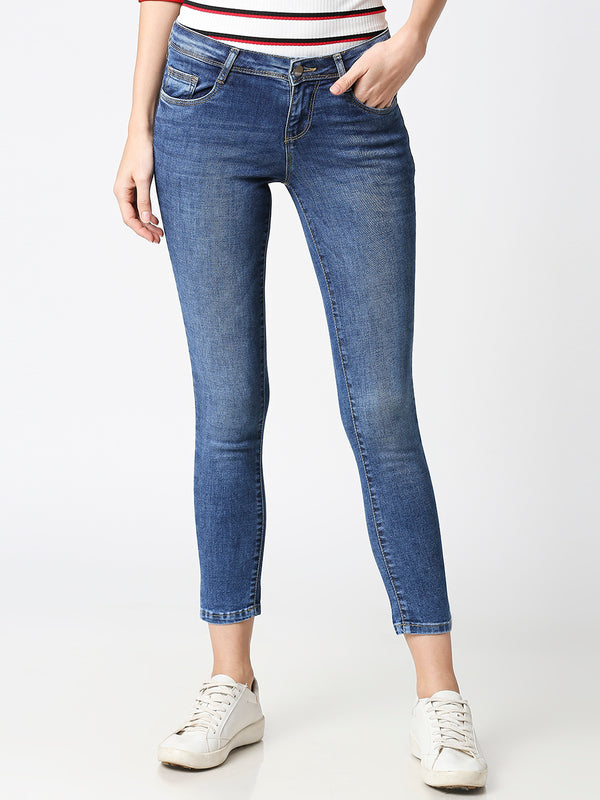 K4050 Mid-Rise Skinny Crop Length Jeans (6316549603503)