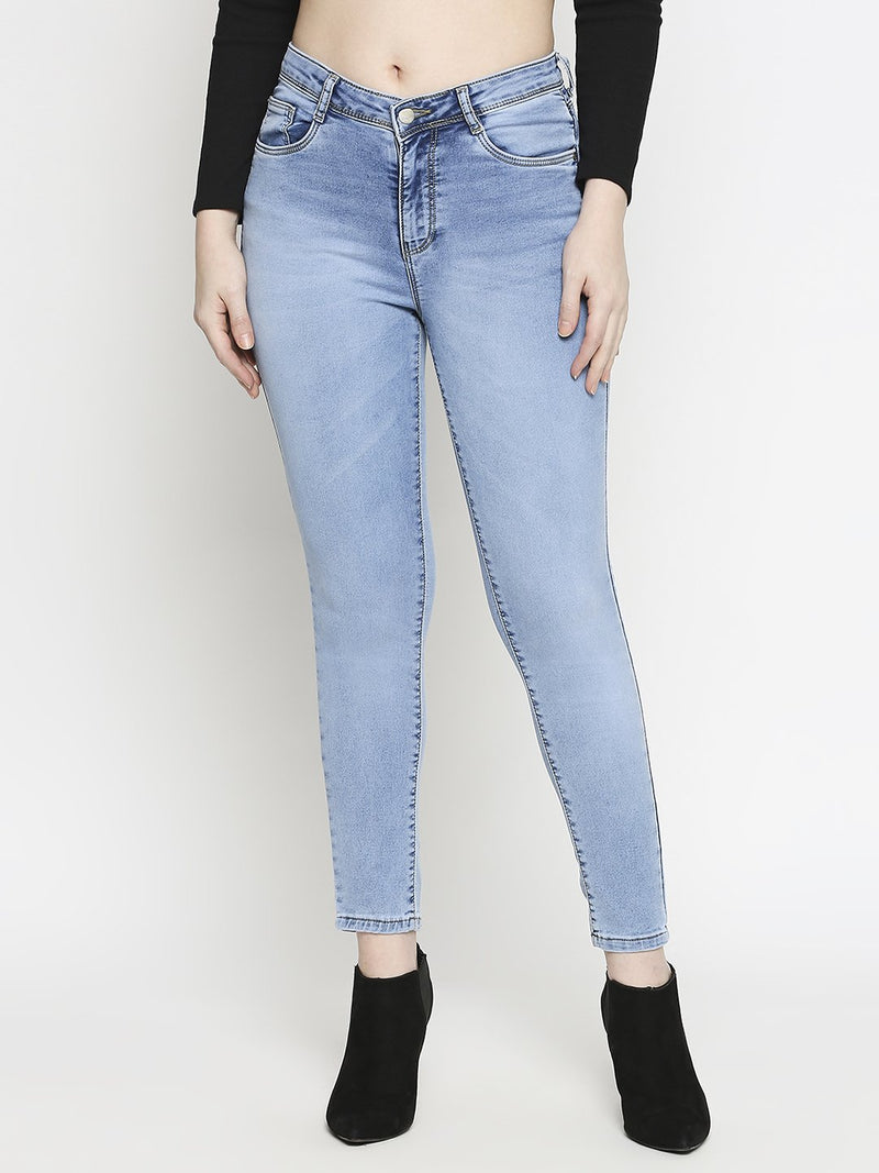K4014 High Rise Skinny Jeans (6289944084655)