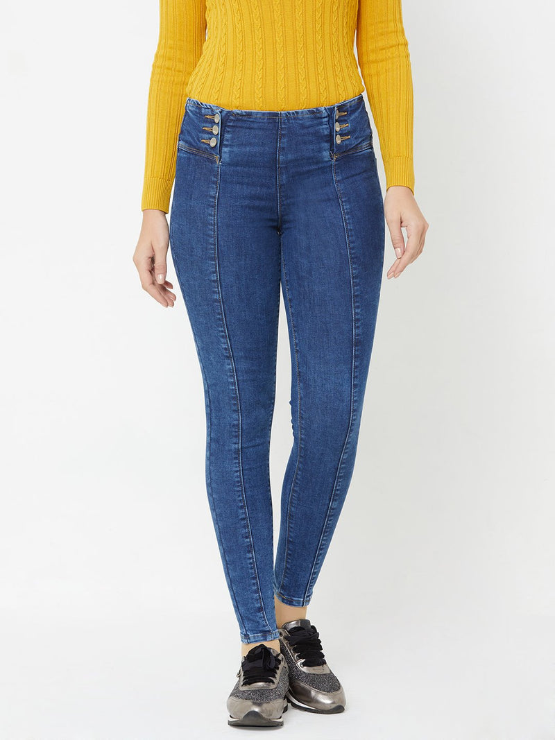 K4014 High Rise Skinny Jeans (6289946509487)