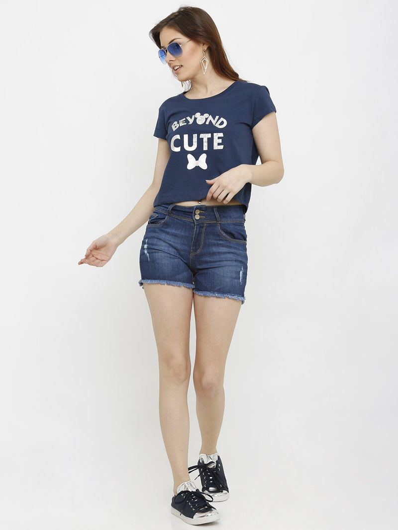 K4041 High-Rise Slim Shorts (6251621810351)
