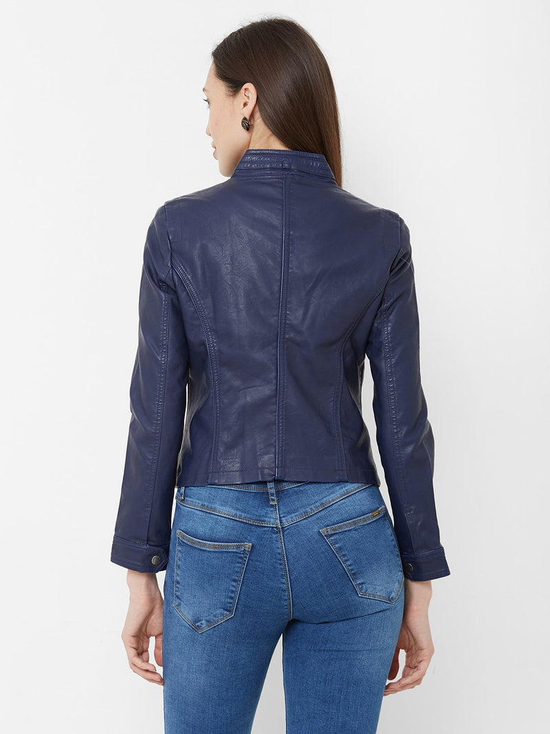Solid Leather Jacket (6251635605679)