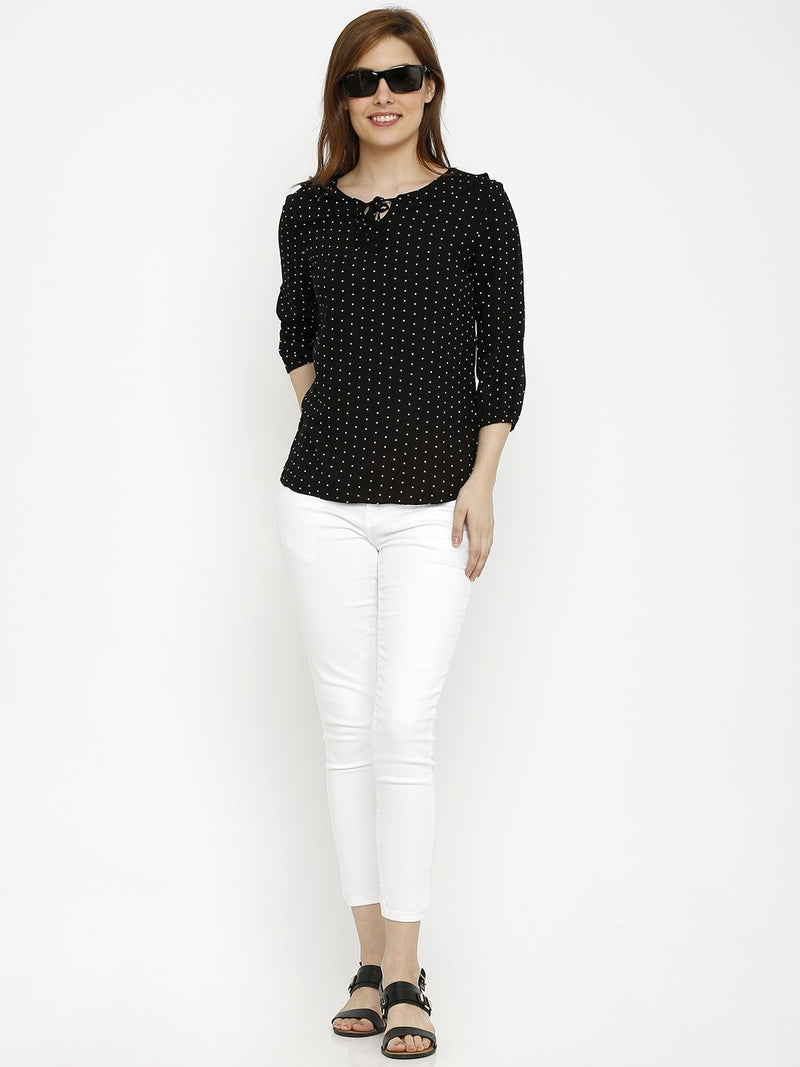 Polka Dot Printed Top (6251630723247)