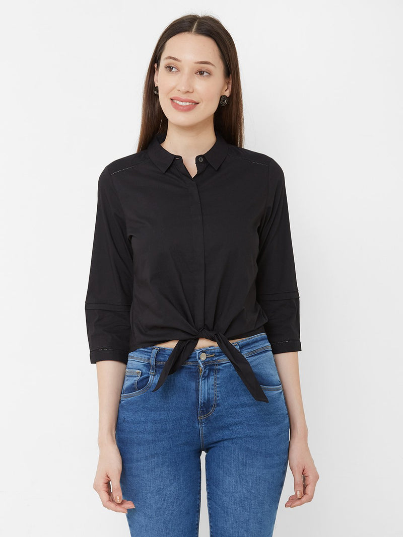 Solid Shirt Style Top (6251638227119)