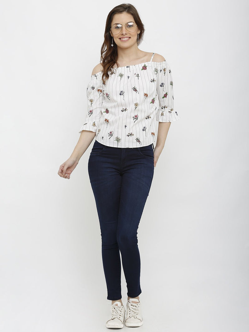 Floral Print Regular Top (6251628134575)
