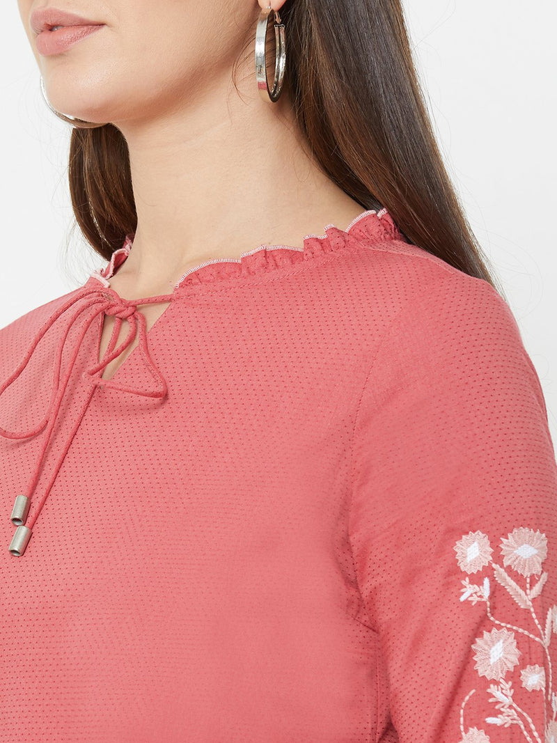 Berry Wovens Embroidery Top (6289946902703)