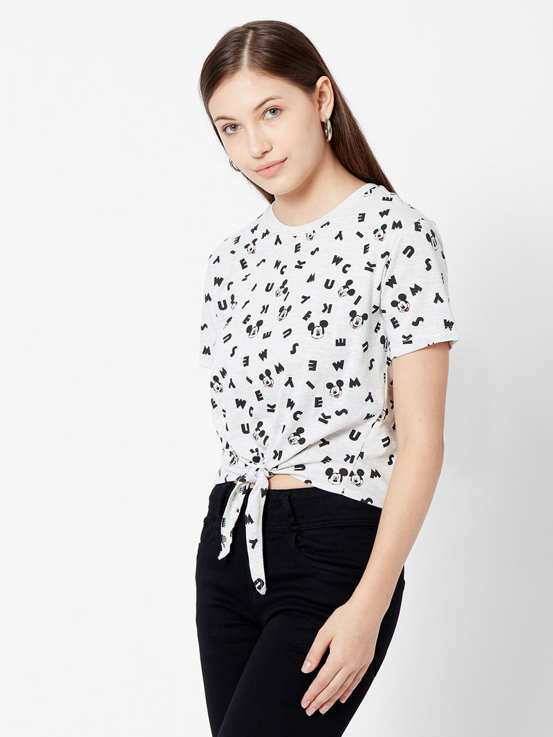 Mickey Mouse Print T-shirt (6251633410223)