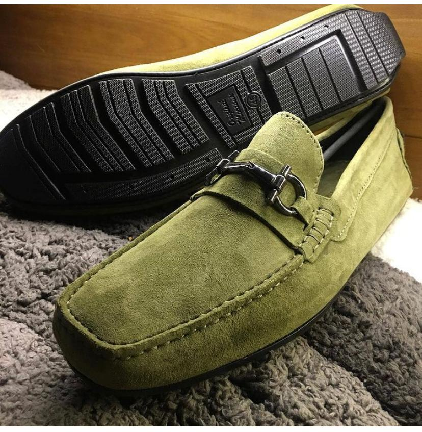 Soft Nappa Driving Shoes -Green