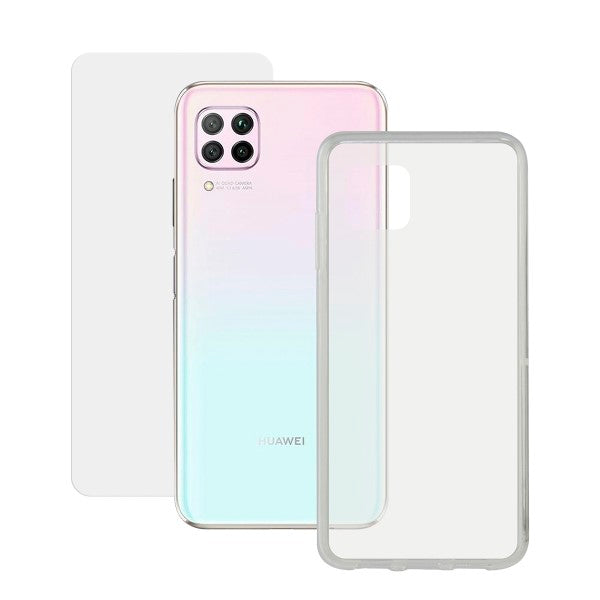 Tempered Glass Mobile Screen Protector + Mobile Case Huawei P40 Lite Contact