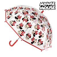 Bubble Umbrella Minnie Mouse Transparent (ø 45 cm)