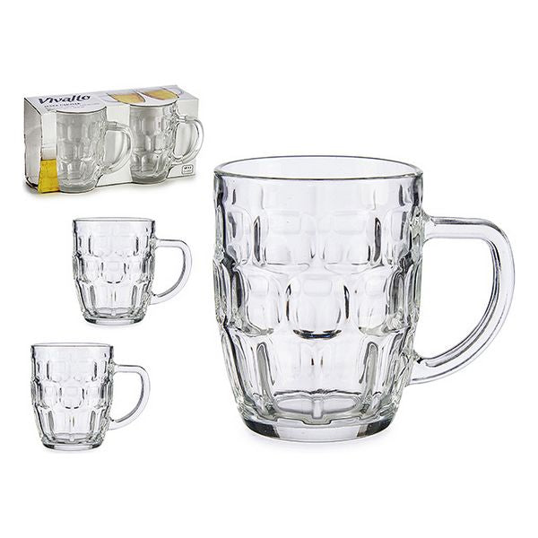 Beer Mug Crystal (2 Pieces) (10 x 12 x 25,5 cm)