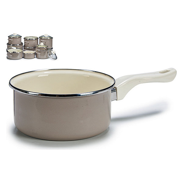 Saucepan Grey Enamelled Steel
