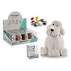 Money box Dog White Ceramic (10 x 13 x 11 cm)