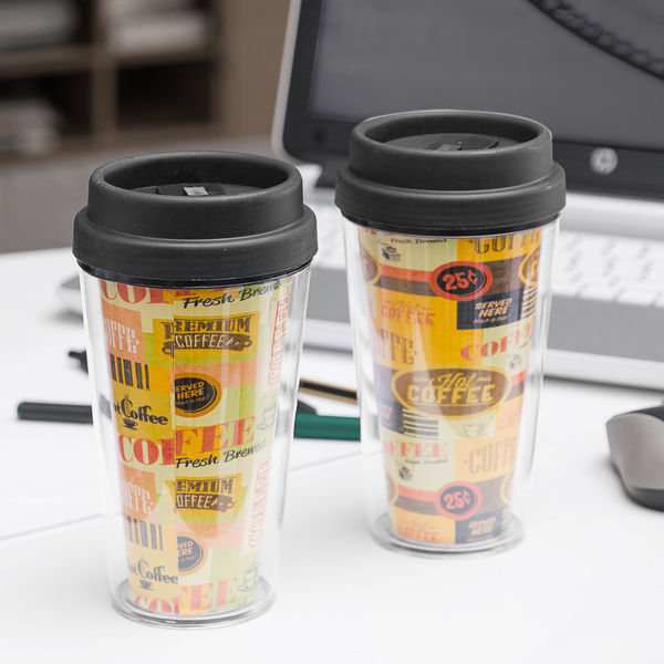Coffee Cup with Lid and Double Wall