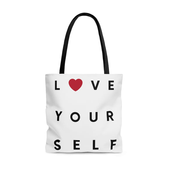 Bag: AOP Tote - Love yourself