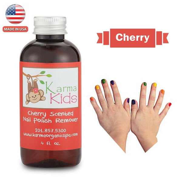 Karma Organic Natural Kids Nail Polish Remover -Cherry