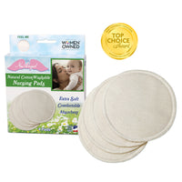 Natural Cotton Washable Nursing Pads - 4ct