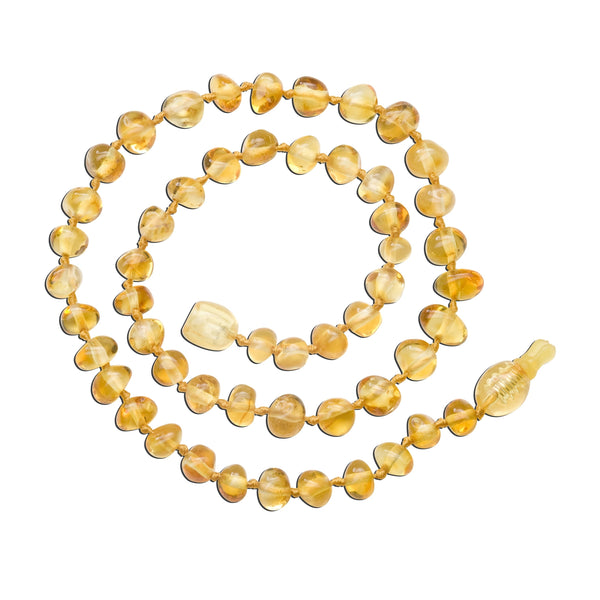 Amber Teething Necklace - Polished