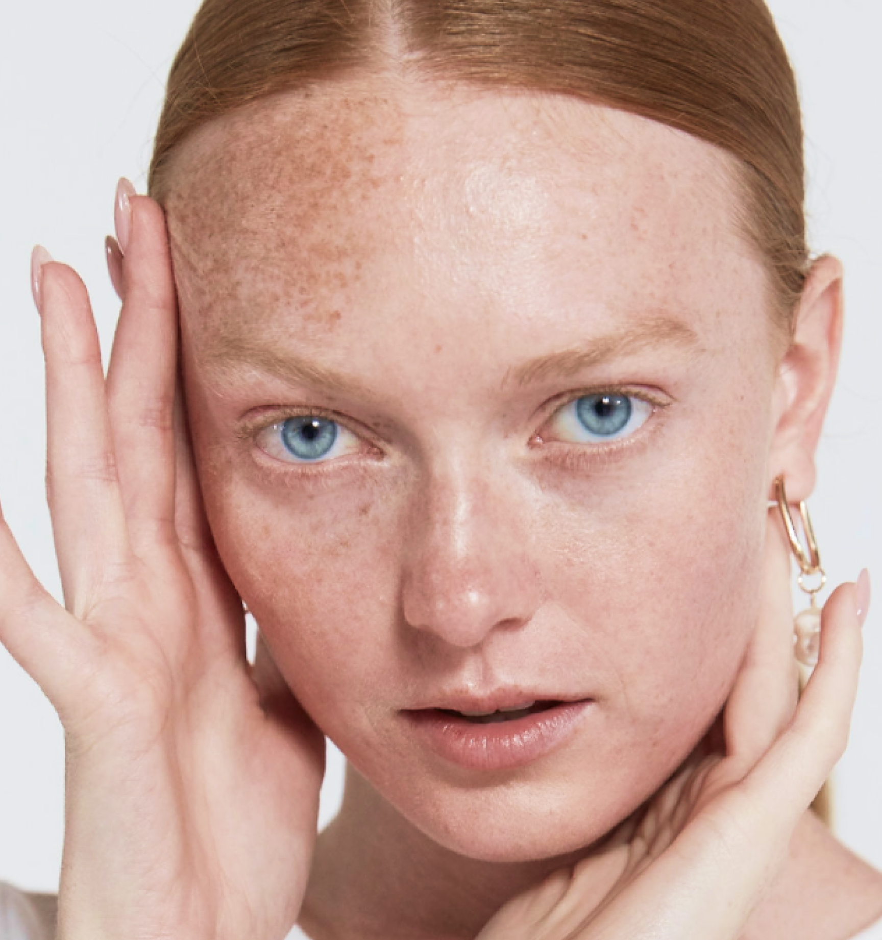girl with clear skin