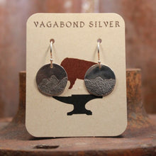 Load image into Gallery viewer, Carved Mountain Disc Ear Wire Earrings