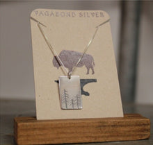 Load image into Gallery viewer, Rectangle Carved Tree Necklace