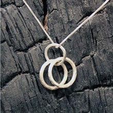 Load image into Gallery viewer, Silver Three Ring Necklace