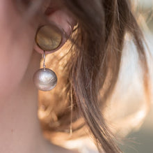 Load image into Gallery viewer, Textured Dome Ear Wire Earrings