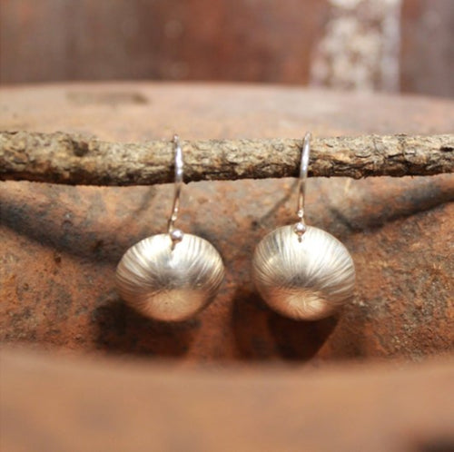 Textured Dome Ear Wire Earrings
