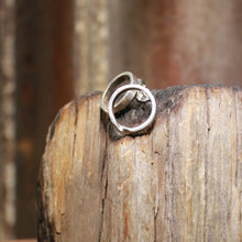 Load image into Gallery viewer, Twisted Narrow Hoop Stud Earrings
