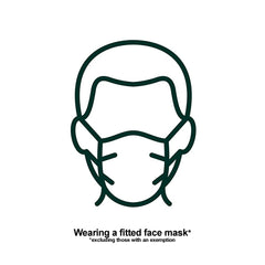 Wear a fitted face mask