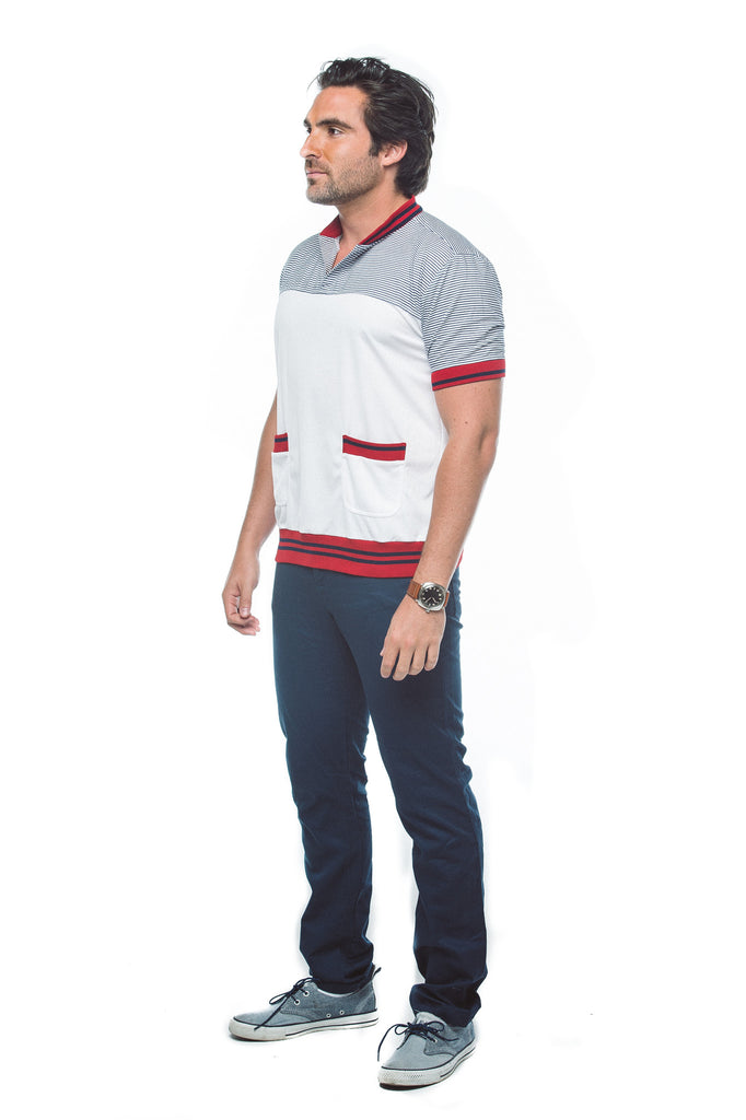 Men's Banded Front Pocket Shirt