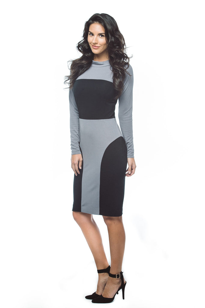Women's Stand Collar Dress